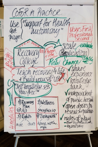Flipchart describing the CoFoR case study