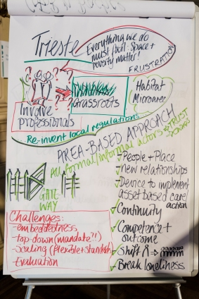 Flipchart describing the case study